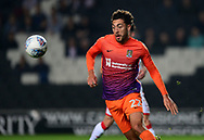 Matt Crooks of Northampton Town in action .EFL Skybet football league one match, MK Dons v Northampton Town at the Stadium MK in Milton Keynes on Tuesday 26th September 2017.<br /> pic by Bradley Collyer, Andrew Orchard sports photography.
