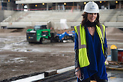 Charlotte Jones Anderson poses for a portrait at The Star, the new home of the Dallas Cowboys headquarters and practice facilities, in Frisco, Texas on November 30, 2015.  (Cooper Neill for The New York Times)