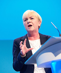 The Leader of the Scottish Labour Party Leader Johann Lamont on Day one of the Labour Party Conference at the Brighton Conference Centre, Brighton, United Kingdom. Sunday, 22nd September 2013. Picture by Elliott Franks / i-Images