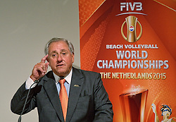 30-03-2015 NED: FIVB Drawing WCH Beach Volleyball, The Hague<br /> The Drawing of Lots for the FIVB Beach Volleyball World Championships The Netherlands 2015 will take place at the Mauritshuis art museum / FIVB President Dr. Ary S. Graça