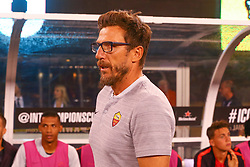 August 7, 2018 - East Rutherford, NJ, U.S. - EAST RUTHERFORD, NJ - AUGUST 07:  AS Roma head coach Eusebio Di Francesco prior to the International Champions Cup game between Real Madrid and AS Roma on August 7, 2018, at Met Life Stadium in East Rutherford, NJ.  (Photo by Rich Graessle/Icon Sportswire) (Credit Image: © Rich Graessle/Icon SMI via ZUMA Press)