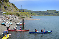 Canoeists, Russian River, Jenner, Sonoma County, California, USA. 201304292047<br /> <br /> Copyright Image from Victor Patterson, 54 Dorchester Park, Belfast, UK, BT9 6RJ<br /> <br /> Tel: +44 28 9066 1296<br /> Mob: +44 7802 353836<br /> Voicemail +44 20 8816 7153<br /> Skype: victorpattersonbelfast<br /> Email: victorpatterson@me.com<br /> Email: victorpatterson@ireland.com (back-up)<br /> <br /> IMPORTANT: If you wish to use this image or any other of my images please go to www.victorpatterson.com and click on the Terms & Conditions. Then contact me by email or phone with the reference number(s) of the image(s) concerned.