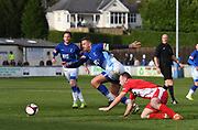 Liam Hughes of Matlock Town running onto the ball during the Northern Premier League match between Matlock FC and Ashton United at the Proctor Cars Stadium on October 10th, 2020 in Matlock, Derbyshire.  Local fans welcomed to watch the match maintaining Government's Covid-19 guidelines. (VXP Photo/ Shaun Hardwick)