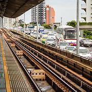 THA/Bangkok/20160729 - Thailand 2016 Bangkok, Skytrain, Bts, Bangkok, straatbeeld