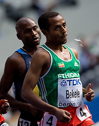 Second placed Bernard Lagat of USA and Winner Kenenisa Bekele of Ethiopia competes in the men's 5000m Final during the day nine of the 12th IAAF World Athletics Championships at the Olympic Stadium on August 23, 2009 in Berlin, Germany. (Photo by Vid Ponikvar / Sportida)