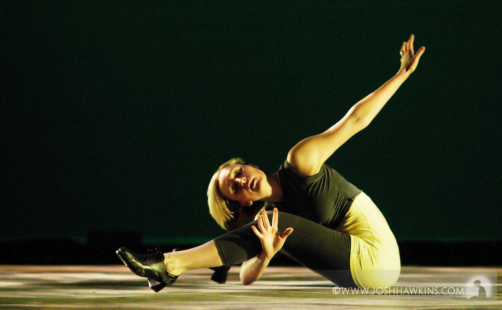 Chicago Tap Theatre - Tap!(ish).Out Through Chaos, choreography by Jessica Deahr and Mark Yonally.Dancer, Kendra Jorstad