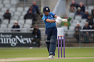Derbyshires Tom Lace during the Royal London 1 Day Cup match between Lancashire County Cricket Club and Derbyshire County Cricket Club at the Emirates, Old Trafford, Manchester, United Kingdom on 2 May 2019.