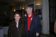 Claire Tomalin and Michael Frayn. Everyman's Centenary Party. The Fine Rooms. Royal Academy. London. 15 February 2006. dddONE TIME USE ONLY - DO NOT ARCHIVE  © Copyright Photograph by Dafydd Jones 66 Stockwell Park Rd. London SW9 0DA Tel 020 7733 0108 www.dafjones.com