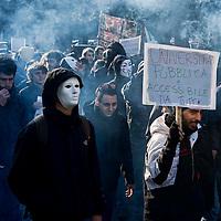 Polizia carica studenti alla  Sapienza