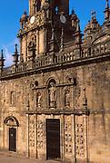 SPAIN, GALICIA, SANTIAGO Cathedral 'Door of Pardon' c.1611
