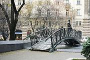 Budapest, Hungary Statue of Imre Nagy on bridge