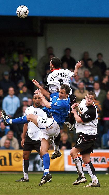 PHOTO:Alan Crowhurst.Digitalsport<br /> FULHAM V BIRMINGHAM,Barclaycard Premiership,<br /> 03/04/2004.SYLVIAN LEGWINSKI CLIMBS HIGH