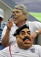 Photo: Chris Ratcliffe.<br /> England v Portugal. Quarter Finals, FIFA World Cup 2006. 01/07/2006.<br /> England fans dressed as John Major and Saddam Hussein.
