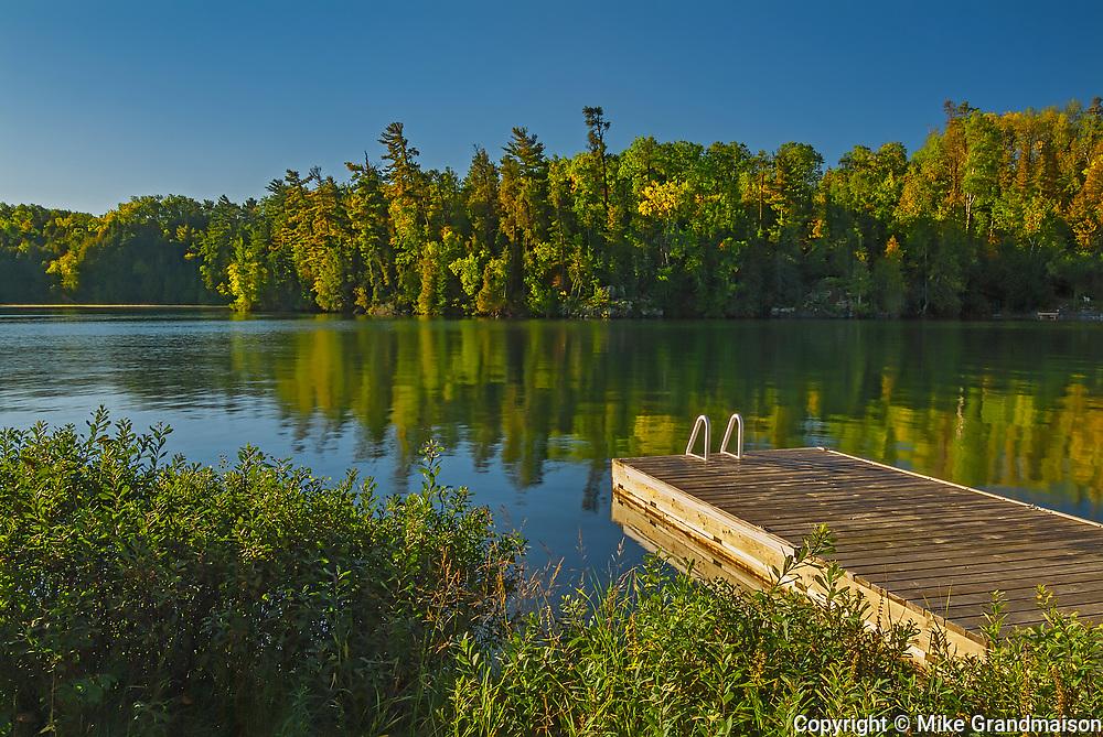 Dock at Crow Lake<br />Crow Lake<br />Ontario<br />Canada