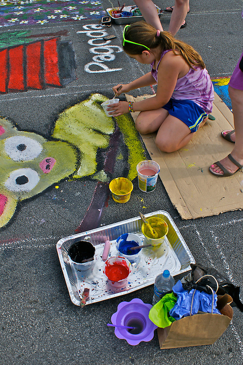 West Reading Summer Street Arts Festival, Berks Co., PA Penn Ave Painting,