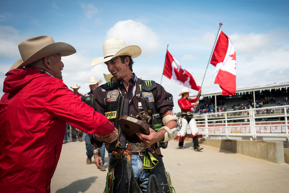 during the Calgary Stampede rodeo in Calgary, Alberta Tuesday, July 11, 2017. Todd Korol/The Globe and Mail