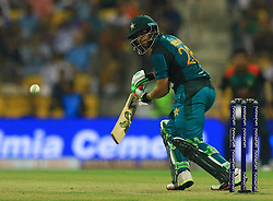 September 26, 2018 - Abu Dhabi, United Arab Emirates - Pakistan cricketer Imam-ul-Haq plays a shot  during the Asia Cup 2018 cricket match  between Bangladesh and Pakistan at the Sheikh Zayed Stadium,Abu Dhabi, United Arab Emirates on September 26, 2018  (Credit Image: © Tharaka Basnayaka/NurPhoto/ZUMA Press)