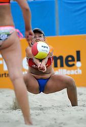 06-06-2010 VOLLEYBAL: JIBA GRAND SLAM BEACHVOLLEYBAL: AMSTERDAM<br /> In een koninklijke ambiance streden de nationale top, zowel de dames als de heren, om de eerste Grand Slam titel van het seizoen bij de Jiba Eredivisie Beach Volleyball - Marielle Kloek <br /> ©2010-WWW.FOTOHOOGENDOORN.NL