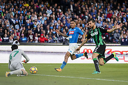 October 29, 2017 - Napoli, Napoli, Italy - Naples - Italy 29/10/2017. MARQUES LOUREIRO ALLAN of S.S.C. NAPOLI during Serie A  match between S.S.C. NAPOLI and Sassuolo  at Stadio San Paolo of Naples. (Credit Image: © Emanuele Sessa/Pacific Press via ZUMA Wire)