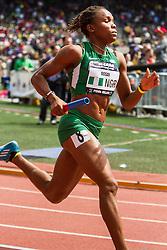 Penn Relays, USA vs the World, womens 4 x 400 meter relay, Ossai, Nigeria