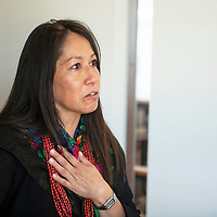 Cabinet Secretary for Department of Indian Affairs Lynn Trujillo attends a Missing and Murdered Dine Relatives Forum in Shiprock, Thursday, June 27.