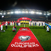 Turkey's and Czech Republic's players during their UEFA Euro 2016 qualification Group A soccer match Turkey betwen Czech Republic at Sukru Saracoglu stadium in Istanbul October 10, 2014. Photo by Aykut AKICI/TURKPIX