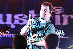11 July 2012:  Marc Broomby of Brushfire Band perform a concert on the concourse of the Corn Crib Stadium at Heartland Community College in Normal IL