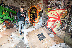 Mike is a homeless man living around Sheffield. He uses cardboard for insulation