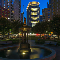 Boston skyline photography from New England photographer Juergen Roth showing the Boston Statler Park and parts of its fountain with the Boston Park Plaza to the right. The left features a rental apartment complex. I noticed the fountain and phot opportunity when I picked up my wife from a gala at the Boston Plaza Hotel. The fountain inspired me to come back at twilight and create this long-exposure photography image of the Boston cityscape. <br /> <br /> Boston skyline photos of are available as museum quality photo prints, canvas prints, wood prints, acrylic prints or metal prints. Fine art prints may be framed and matted to the individual liking and decorating needs:<br /> <br /> https://juergen-roth.pixels.com/featured/boston-park-plaza-hotel-juergen-roth.html<br /> <br /> All digital Boston skyline photography images are available for photo image licensing at www.RothGalleries.com. Please contact me direct with any questions or request.<br /> <br /> Good light and happy photo making!<br /> <br /> My best,<br /> <br /> Juergen<br /> Prints: http://www.rothgalleries.com<br /> Photo Blog: http://whereintheworldisjuergen.blogspot.com<br /> Instagram: https://www.instagram.com/rothgalleries<br /> Twitter: https://twitter.com/naturefineart<br /> Facebook: https://www.facebook.com/naturefineart