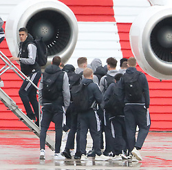 Joel Pereira as the Manchester United team fly to Wales on Tuesday morning for their Carabao Cup match against Swansea City