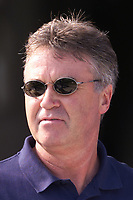 Fotball, South Korea's coach Guus Hiddink pictured before his side's 5-0 defeat by the Czech Republic in Drnovice.  (Foto: Digitalsport).
