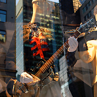 Marching band guitar girl
