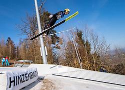 09.02.2020, Energie AG Skisprung Arena, Hinzenbach, AUT, FIS Weltcup Ski Sprung, Damen, im Bild Jacqueline Seifriedsberger (AUT) // during her jump for the women's FIS Ski Jumping World Cup at the Energie AG Skisprung Arena in Hinzenbach, Austria on 2020/02/09. EXPA Pictures © 2020, PhotoCredit: EXPA/ Reinhard Eisenbauer