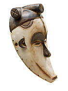 African tribal ceremonial monkey mask, wooden traditional tribe mask, cut out