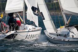 Buckley and his team. Danish Open 2010, Bornholm, Denmark. World Match Racing Tour. photo: Loris von Siebenthal - myimage
