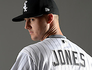 GLENDALE, ARIZONA - FEBRUARY 23:  Nate Jones #65 of the Chicago White Sox poses for a portrait during Photo Day on February 23, 2017 at Camelback Ranch in Glendale Arizona.  (Photo by Ron Vesely).  Object:  Nate Jones