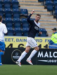 Falkirk's Rory Loy cele scoring their second goal.<br /> half time : Falkirk 2 v 0 Morton, Scottish Championship 17/8/2013.<br /> ©Michael Schofield.