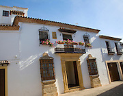 Historic Moorish buildings in old city, La Ciudad, Ronda, Spain