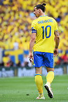 Zlatan Ibrahimovic Sweden <br /> Toulouse 17-06-2016 Stade de Toulouse <br /> Football Euro2016 Italy - Sweden / Italia - Svezia Group Stage Group E<br /> Foto Massimo Insabato / Insidefoto
