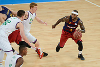 Unicaja's Alberto Diaz and FCB Lassa's Tyrese Rice during Quarter Finals match of 2017 King's Cup at Fernando Buesa Arena in Vitoria, Spain. February 17, 2017. (ALTERPHOTOS/BorjaB.Hojas)