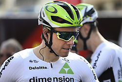 February 14, 2018 - Lagos, Portugal - Edvald Boasson Hagen of Team Dimension Data before the 1st stage of the cycling Tour of Algarve between Albufeira and Lagos, on February 14, 2018. (Credit Image: © Str/NurPhoto via ZUMA Press)