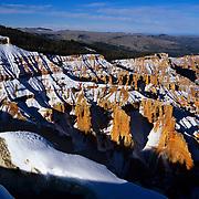 The badlands of Cedar Breaks National Monument, Utah in winter.