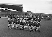 Neg No: A484/03-07...1957AIJHCF2.08.09.1957, 09.08.1957, 08th September 1957...Wrong location.Mayo v. Cork Football Team.Cork Team.FOOTBALL