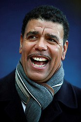 """Sky Sports presenter Chris Kamara during the Premier League match at the King Power Stadium, Leicester. PRESS ASSOCIATION Photo Picture date: Saturday December 2, 2017. See PA story SOCCER Leicester. Photo credit should read: Mike Egerton/PA Wire. RESTRICTIONS: EDITORIAL USE ONLY No use with unauthorised audio, video, data, fixture lists, club/league logos or """"live"""" services. Online in-match use limited to 75 images, no video emulation. No use in betting, games or single club/league/player publications."""
