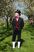 Traditional Costume worn by members of the Altländer Trachtengruppe von 1970 e. V. in Jork, Germany on April 30, 2017.<br /> <br /> Groom: Riccerd<br /> <br /> This is part of the series about Traditional Gowns from different regions of Germany, worn by young members of local dance groups and cultural associations that exist to preserve and celebrate the cultural heritage. The portraiture series is a depiction of an old era with different social values and religious beliefs in an antiquated civil society with very few of those dresses left.