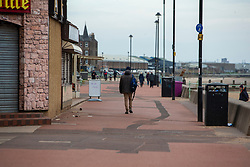 People on the promenade at Portobello. Edinburgh on the day after the Lockdown.
