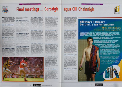 All Ireland Senior Hurling Championship Final,.12.09.2004, 09.12.2004, 12th September 2004,.Senior Cork 0-7, Kilkenny 0-9,.Minor Kilkenny 1-18 ,  Galway 3-12 (draw),.12092004AISHCF,.KIlkenny's JJ Delaney, Addidas,