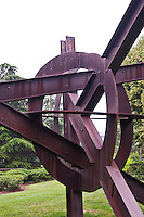 National Gallery, Washington DC. Close-up of metal sculpture in Sculpture Park