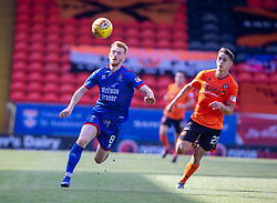 Inverness Caledonian Thistle's David Carson and Dundee United's Declan Glass. Dundee United 4 v 1 Inverness Caledonian Thistle, first Scottish Championship game of season 2019-2020, played 3/8/2019 at Tannadice Park, Dundee.