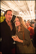 PETROC SESTI; DAWN LANDES, Frieze party, ACE hotel Shoreditch. London. 18 October 2014
